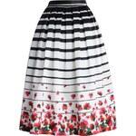Chicwish midi sukně Summer Stripe