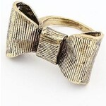 SheInside Retro Gold Bow Ring