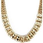 SheInside Gold Rivet Chain Necklace