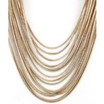 SheInside Gold Multilayer Chain Necklace
