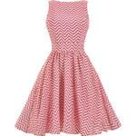 LADY VINTAGE Dámské retro šaty Candy Pink