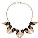 Náhrdelník Gold Wings černý C50078