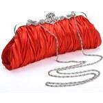 LM moda Společenská kabelka, psaníčko červené