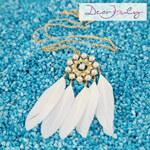 Lesara Dear Jouly Feder-Halskette mit Perlen-Anhänger