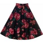 LADY VINTAGE Dámská sukně Jive růžová růže Velikost: 42