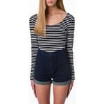 Tally Weijl Black & White Striped Crop Top