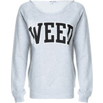 "Tally Weijl Grey ""Weed"" Print Sweater"
