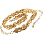3Suisses Dámský kovový splétaný pásek zlatá 85 cm