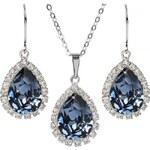 Troli Štrasová souprava šperků Denim Blue