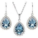 Troli Štrasová souprava šperků Aquamarine