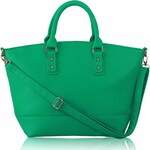 LS Fashion Kabelka L&S fashion LS0085A smaragdová