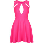Topshop **Textured Split Front Skater Dress by Oh My Love