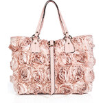 Valentino Satin Rose Embellished Tote
