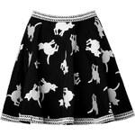 Elle Sasson Cotton Cat Print Circle Skirt