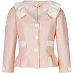 Moschino Textured Jacket with Ruffled Collar