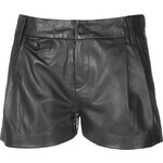 Rag & Bone Leather Tennis Shorts