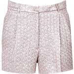 Rochas Silk Blend Textured Shorts