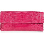 Nancy Gonzalez Crocodile Fold-Over Clutch