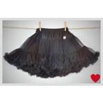 La Petite Suzette Casual tutu sukýnka sukně pro dospělé černá Velikost: XXL (dospělí)