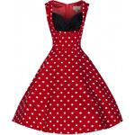 LindyBop šaty Ophelia, červené s puntíky