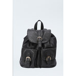 Tally Weijl Black Reptile Leather Backpack