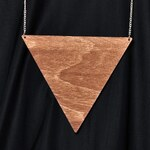 Náhrdelník Odivi Odivi Triangle Maxi wood