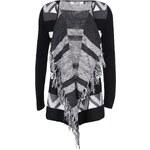 Šedo-černý vzorovaný cardigan ONLY New Liva