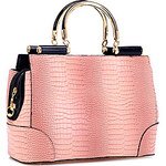 LightInTheBox AILINUO Women's Elegant Gradient Crocodile Pattern Tote/Crossbody Bag(Pink)