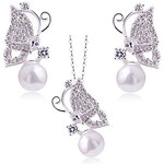 LightInTheBox Charming Alloy Gold Plated With Clear Rhinestone Jewelry Set(Including Necklace,Earrings)(More Colors)