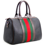 LightInTheBox 8th PINK Women's Pu Leather Black Super Big Multipurpose Business Bag