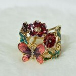 Guess Prsten Multicolor Flower and Butterfly Ring