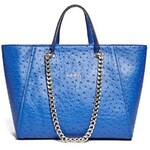 Guess Kabelka Nikki Ostrich-Embossed Chain Tote
