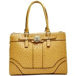 Guess Kabelka Greyson Ostrich-Embossed Status Carryall