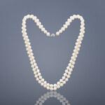 Buka Jewelry Buka Dvouřadý perlový náhrdelník 6,5 AAA bílý 715