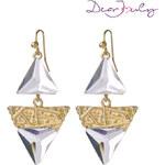 Lesara Dear Jouly Ohrhänger im Dreiecks-Design