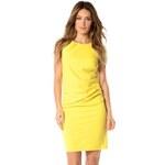 Bleu Marine Dámské žluté šaty cali jaune