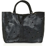 Topshop Leather Cutwork Tote