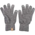 Světle šedé zimní rukavice Selected Leth