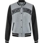"""Tally Weijl Grey """"New York"""" Bomber Jacket"""