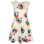 Topshop **Floral Printed Skater Dress by Rare