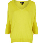 Topshop Knitted Fine Gauge V Neck Top