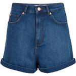 Topshop MOTO Blue Mom Shorts