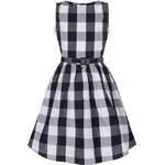 LINDY BOP Šaty Mini Audrey černá kostička Velikost: 7-8 let