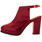 Topshop SCAMP Patent Leather Platforms