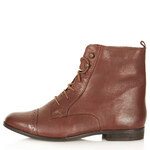 Topshop MALTA Leather Brogue Boots