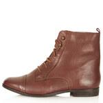 Topshop MALTA Leather Brogue Boots