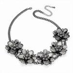 Tmavě šedý náhrdelník Elvina 29719