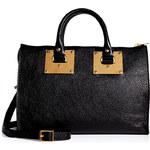 Sophie Hulme Leather Mini Zip Top Bowling Bag