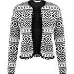 DASH Bílo-černá bunda s aztéckým potiskem