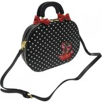 Banned Polka Bag Ladies, black/white